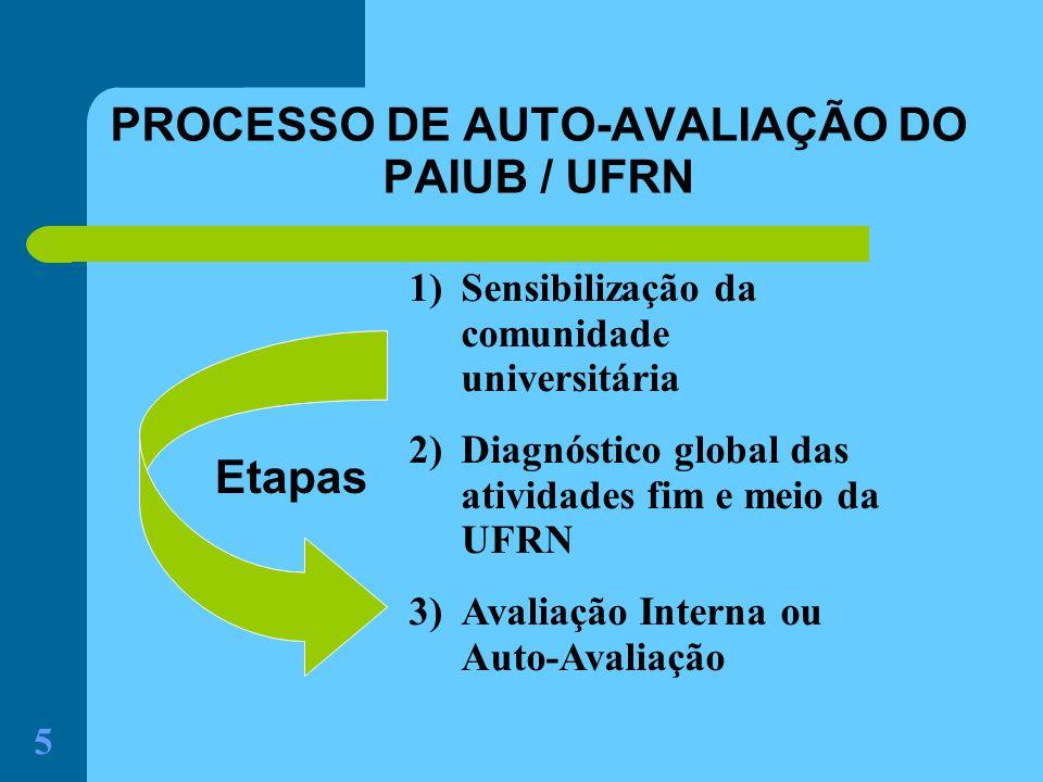 PROCESSO DE AUTO-AVALIAÇÃO DO PAIUB / UFRN