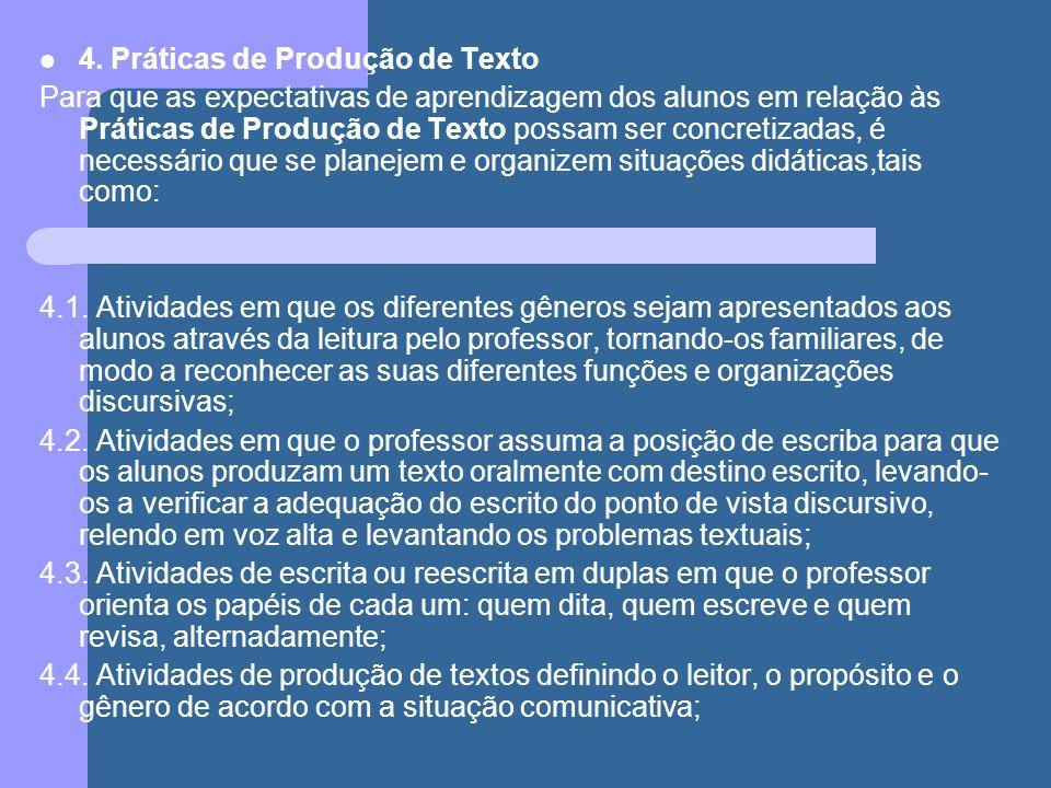 4. Práticas de Produção de Texto