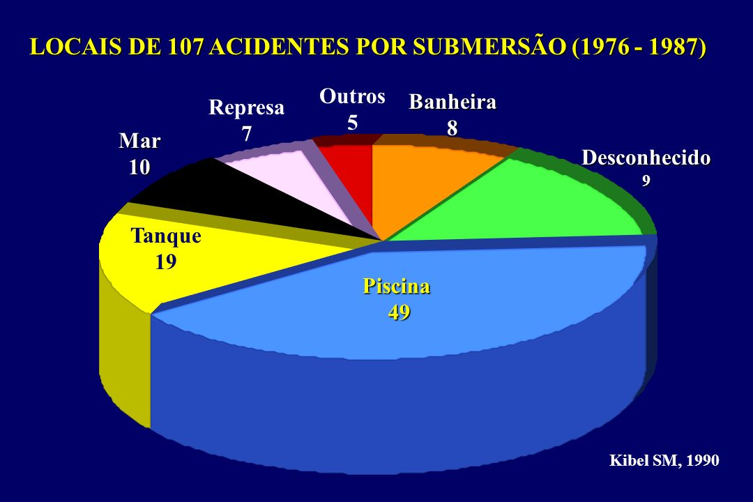 LOCAIS DE 107 ACIDENTES POR SUBMERSÃO (1976 - 1987)