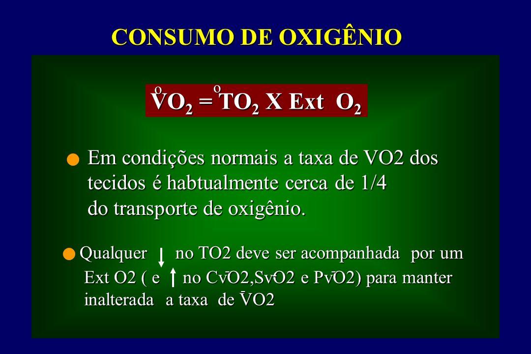 CONSUMO DE OXIGÊNIO VO2 = TO2 X Ext O2