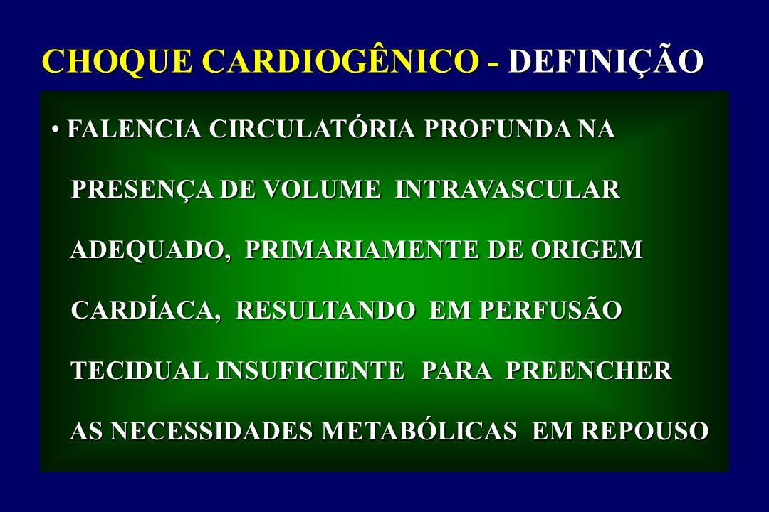CHOQUE CARDIOGÊNICO - DEFINIÇÃO