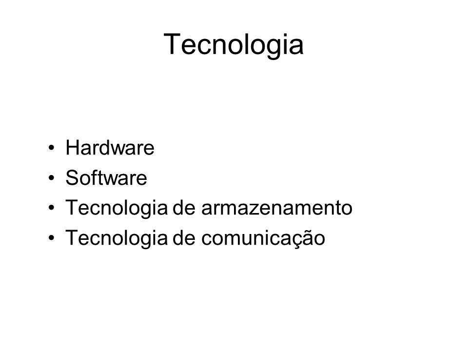 Tecnologia Hardware Software Tecnologia de armazenamento