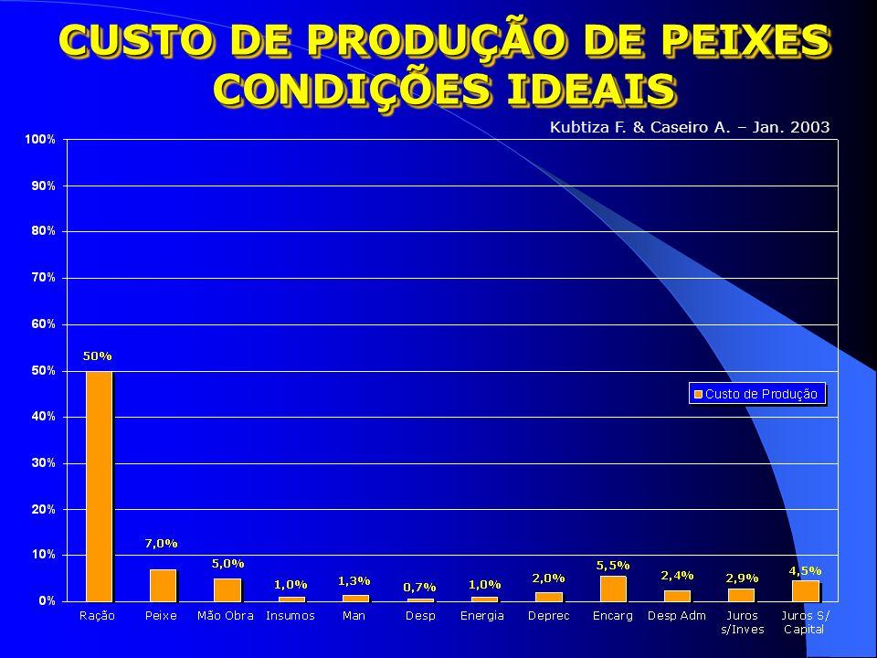 CUSTO DE PRODUÇÃO DE PEIXES CONDIÇÕES IDEAIS