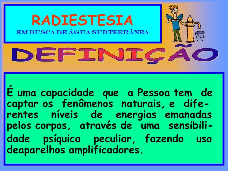 RADIESTESIA EM BUSCA DE ÁGUA SUBTERRÂNEA