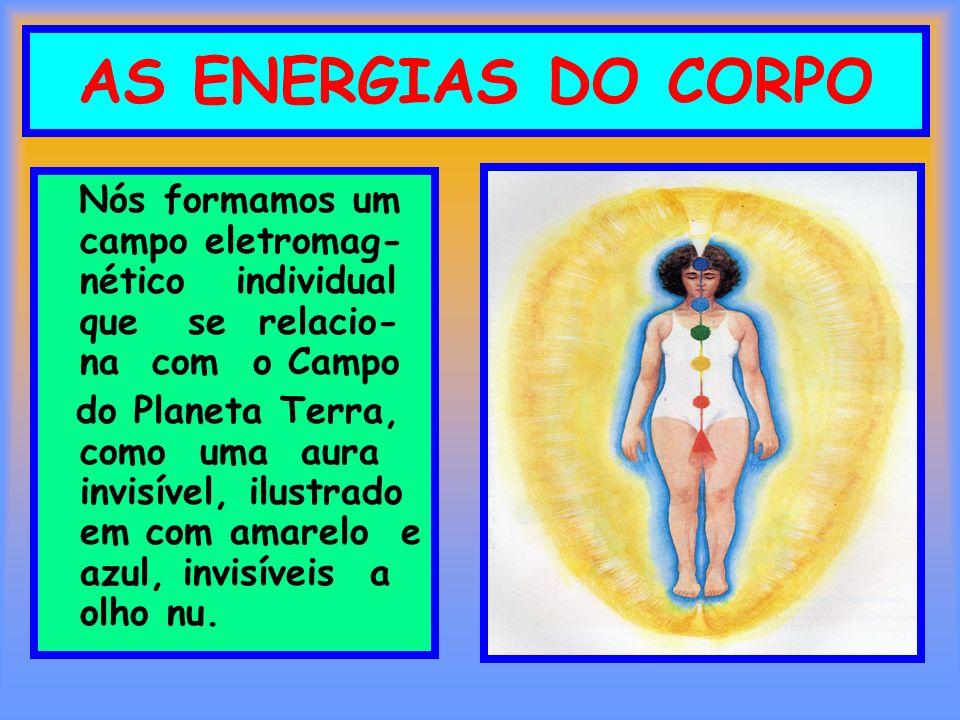 AS ENERGIAS DO CORPO Nós formamos um campo eletromag-nético individual que se relacio-na com o Campo.