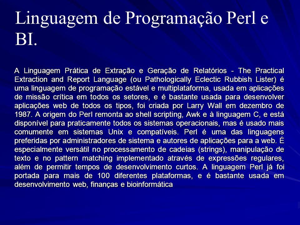 Linguagem de Programação Perl e BI.