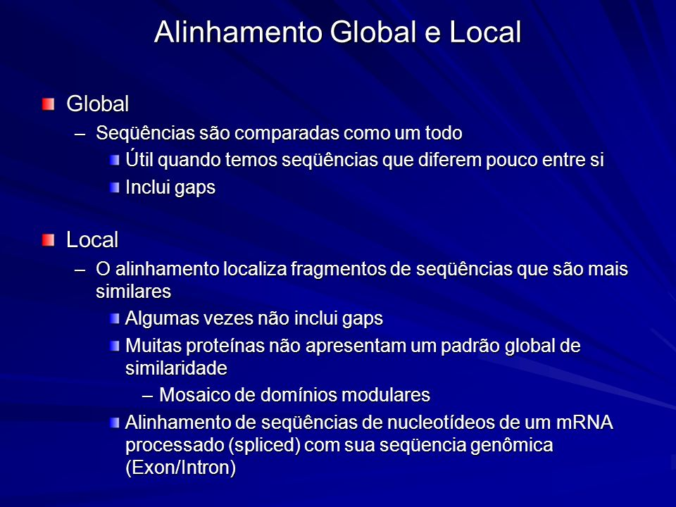 Alinhamento Global e Local