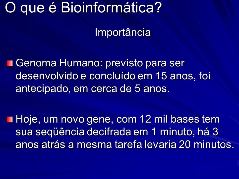 O que é Bioinformática Importância