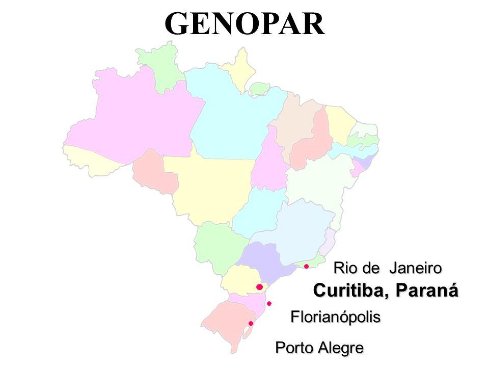 GENOPAR Curitiba, Paraná Rio de Janeiro Florianópolis Porto Alegre
