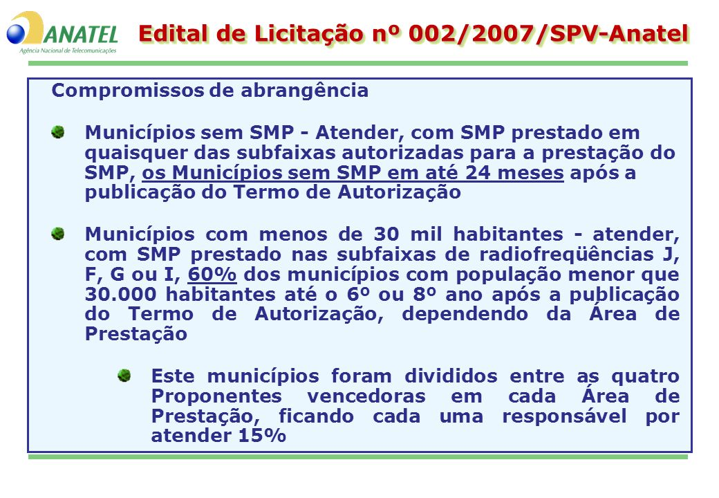 Edital de Licitação nº 002/2007/SPV-Anatel