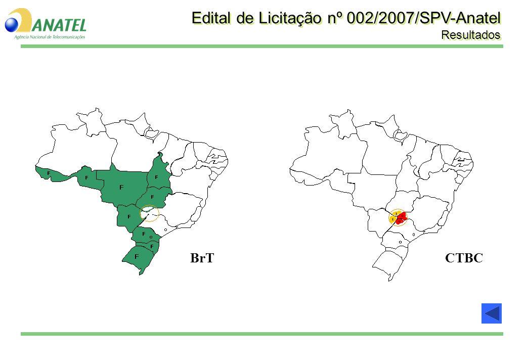 Edital de Licitação nº 002/2007/SPV-Anatel Resultados