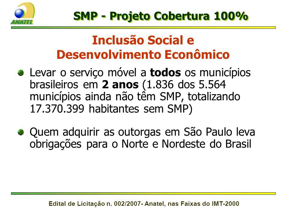 SMP - Projeto Cobertura 100% Desenvolvimento Econômico
