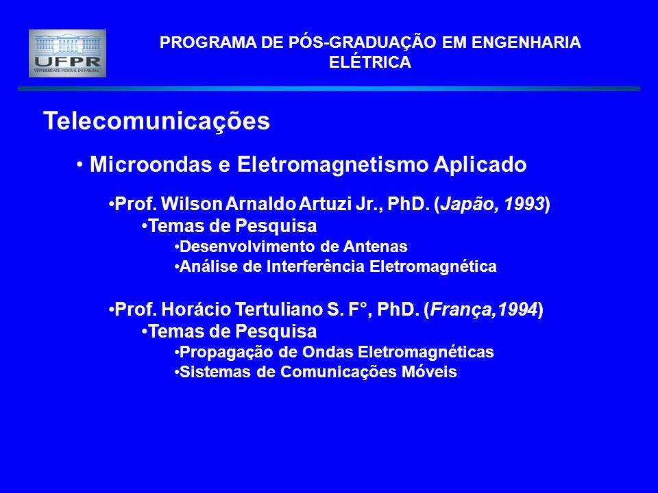 PROGRAMA DE PÓS-GRADUAÇÃO EM ENGENHARIA ELÉTRICA
