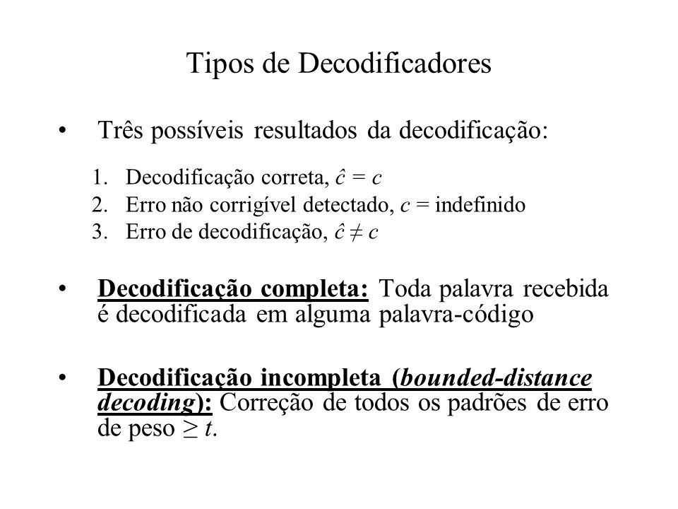 Tipos de Decodificadores