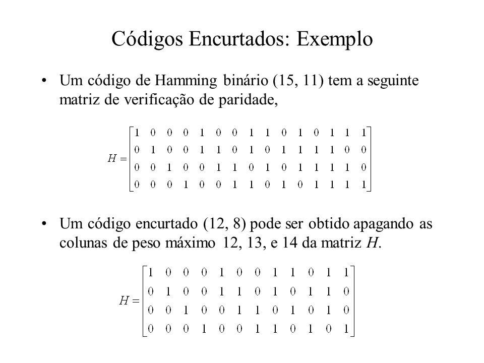 Códigos Encurtados: Exemplo