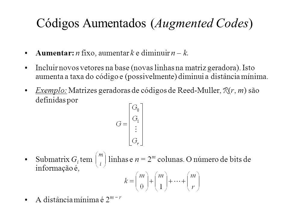 Códigos Aumentados (Augmented Codes)