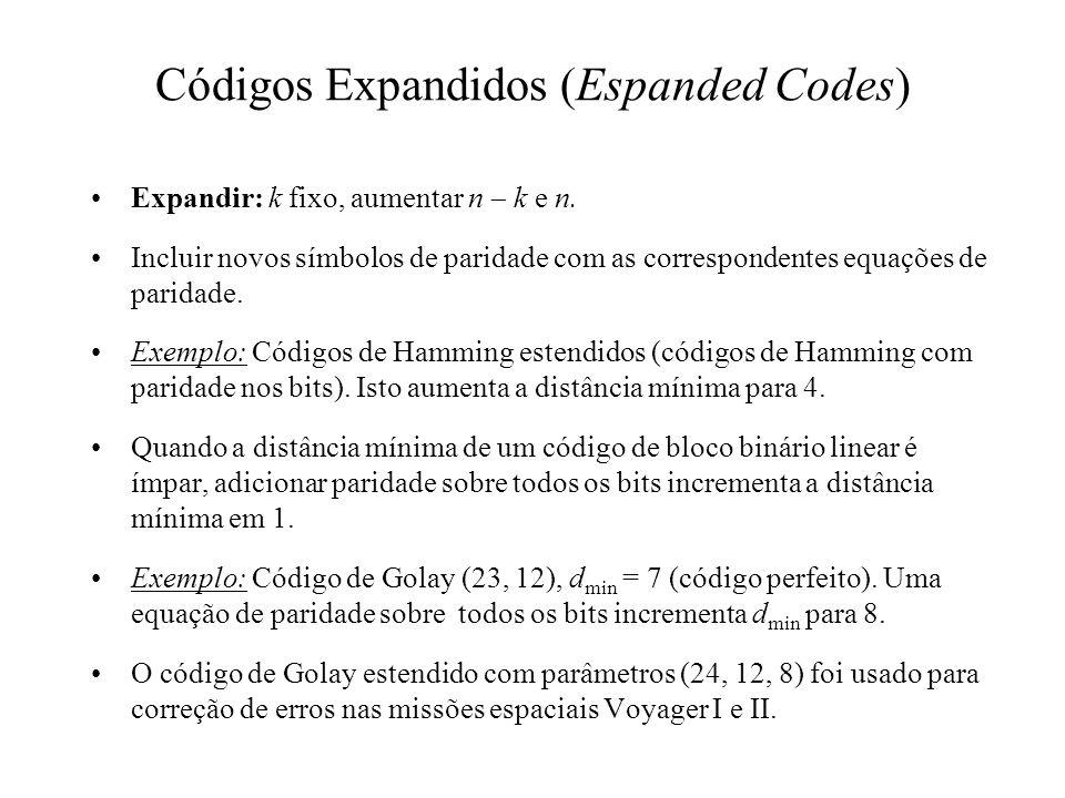 Códigos Expandidos (Espanded Codes)