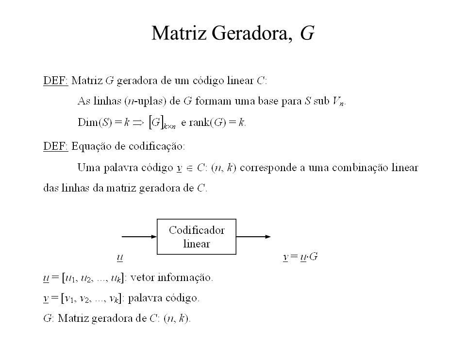 Matriz Geradora, G