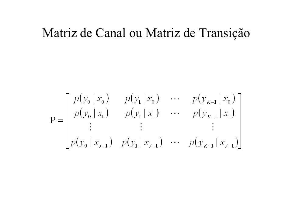 Matriz de Canal ou Matriz de Transição