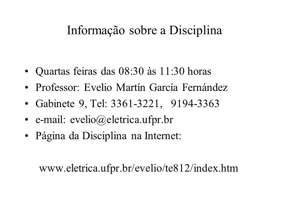 Informação sobre a Disciplina