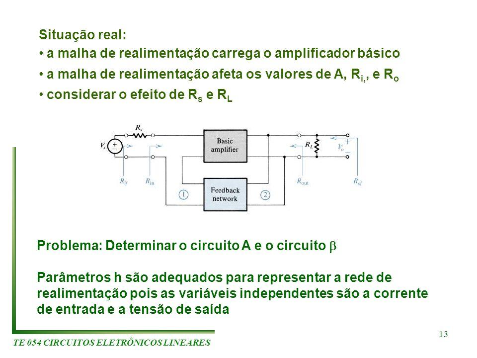 Problema: Determinar o circuito A e o circuito 