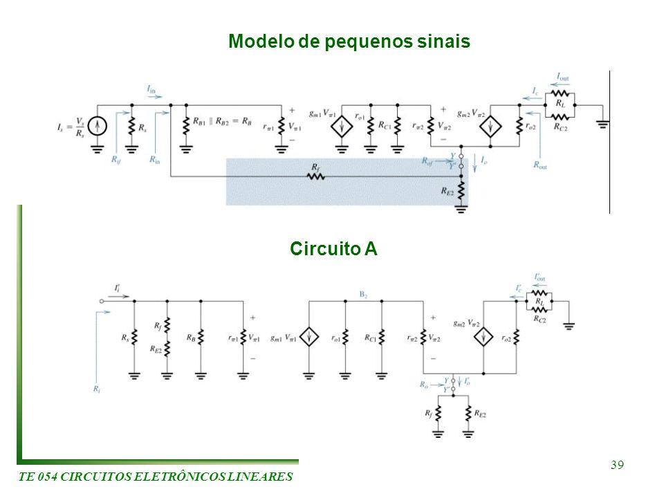 Modelo de pequenos sinais TE 054 CIRCUITOS ELETRÔNICOS LINEARES