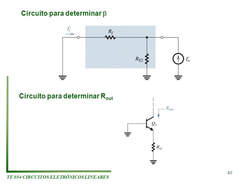 Circuito para determinar b