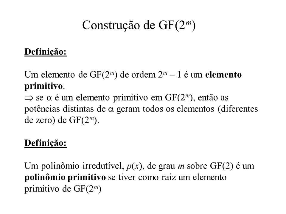 Construção de GF(2m)