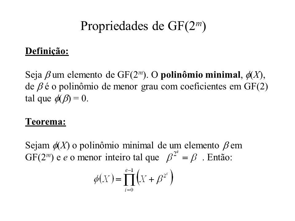 Propriedades de GF(2m)