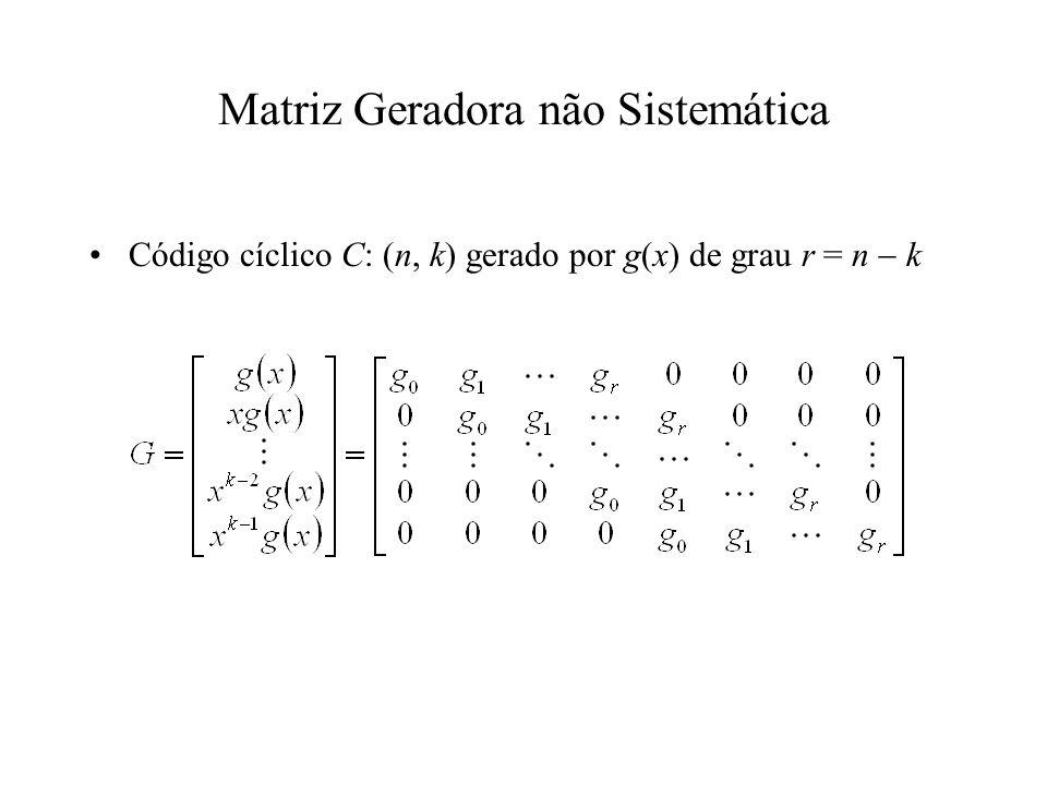 Matriz Geradora não Sistemática