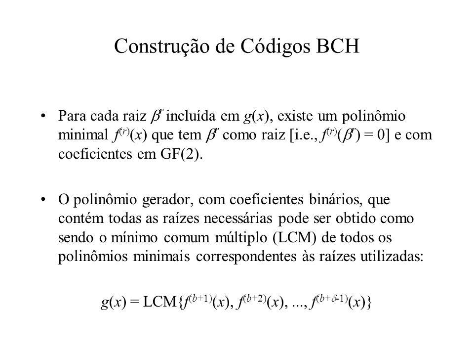 Construção de Códigos BCH