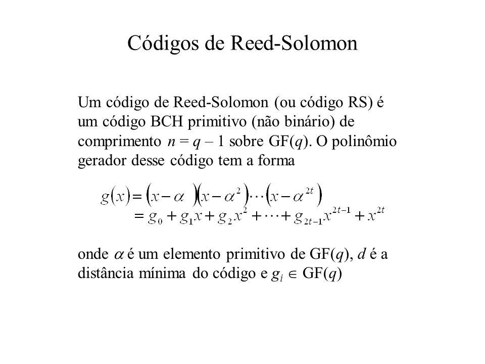 Códigos de Reed-Solomon