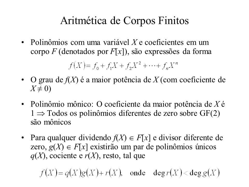 Aritmética de Corpos Finitos