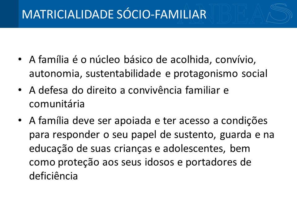 MATRICIALIDADE SÓCIO-FAMILIAR