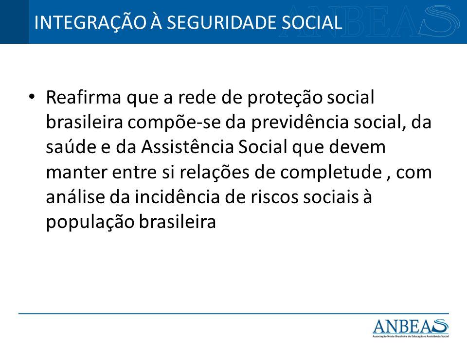 INTEGRAÇÃO À SEGURIDADE SOCIAL