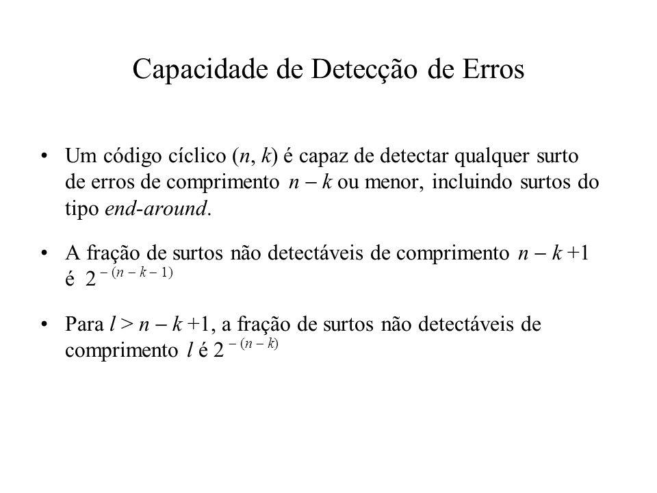 Capacidade de Detecção de Erros