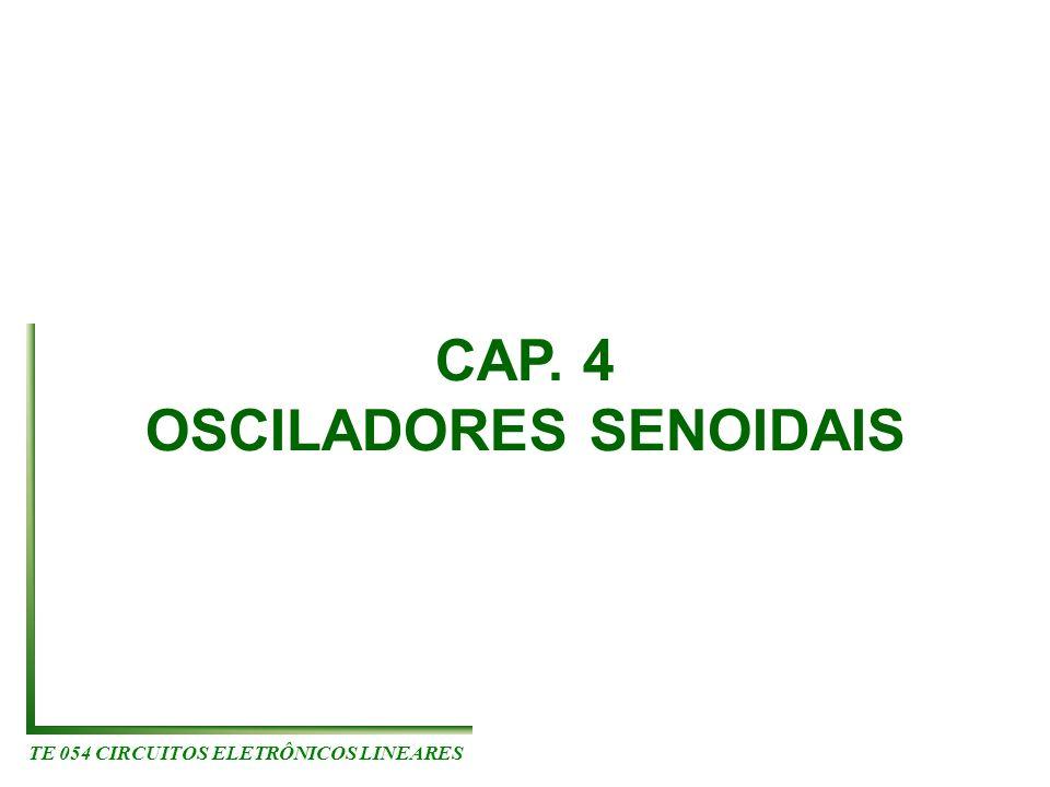 OSCILADORES SENOIDAIS TE 054 CIRCUITOS ELETRÔNICOS LINEARES