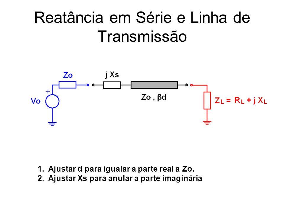 Reatância em Série e Linha de Transmissão