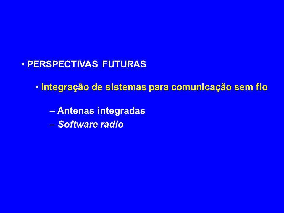 PERSPECTIVAS FUTURAS Integração de sistemas para comunicação sem fio.