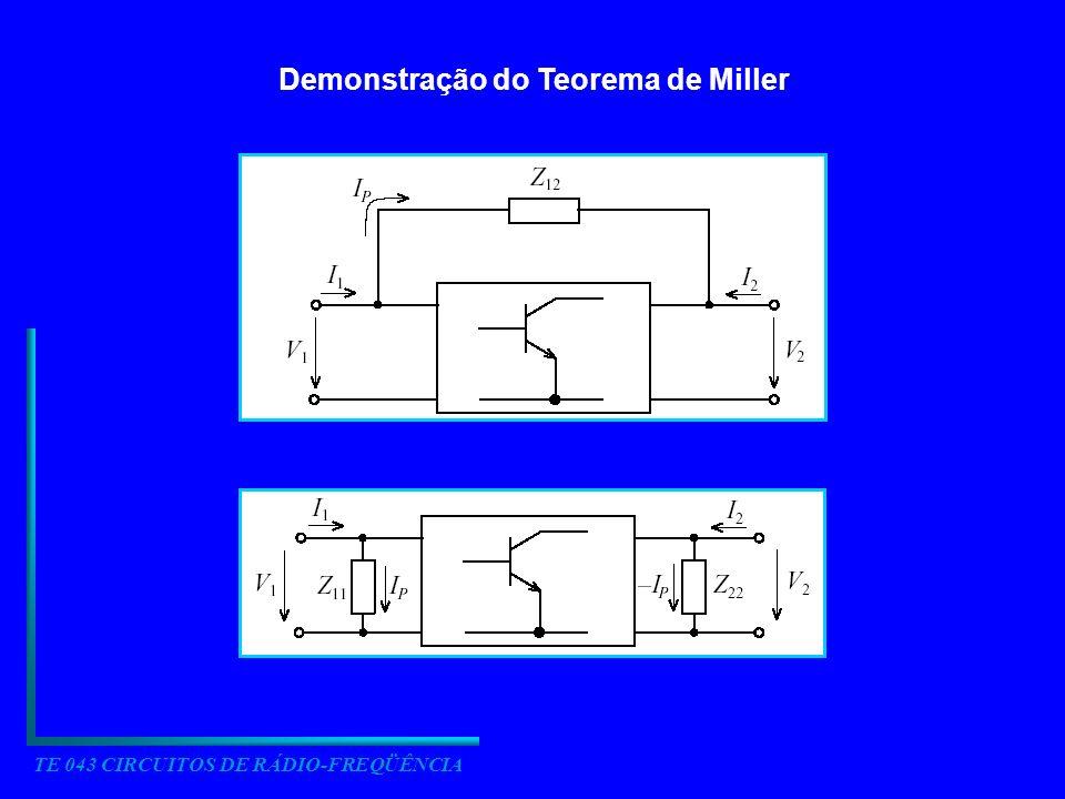 Demonstração do Teorema de Miller TE 043 CIRCUITOS DE RÁDIO-FREQÜÊNCIA