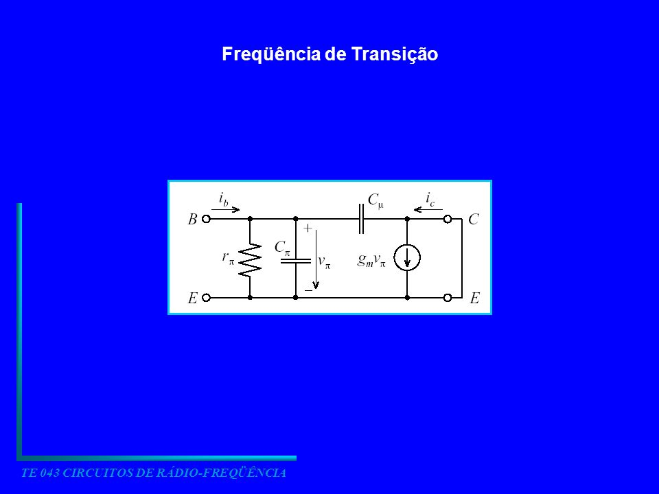 Freqüência de Transição TE 043 CIRCUITOS DE RÁDIO-FREQÜÊNCIA
