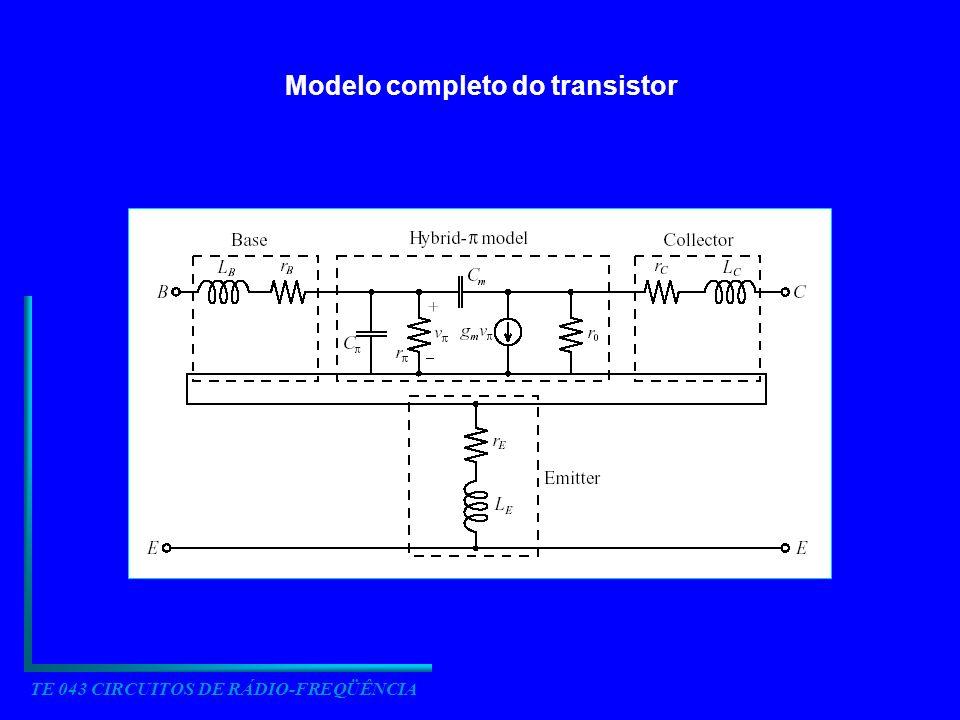 Modelo completo do transistor TE 043 CIRCUITOS DE RÁDIO-FREQÜÊNCIA