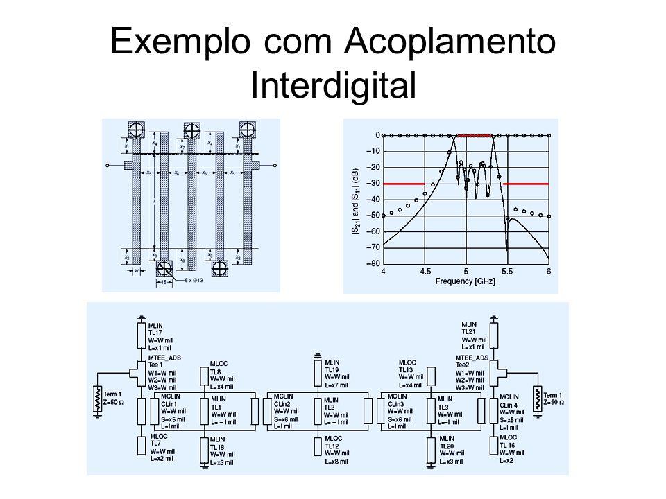 Exemplo com Acoplamento Interdigital