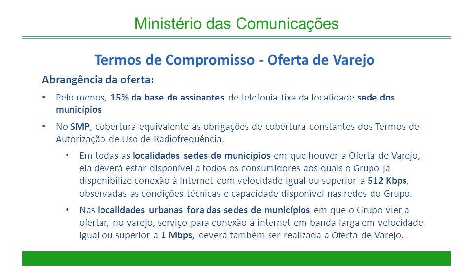Termos de Compromisso - Oferta de Varejo