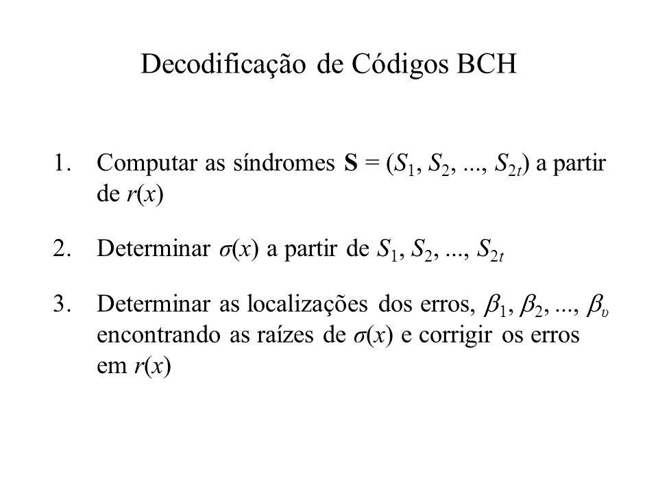 Decodificação de Códigos BCH