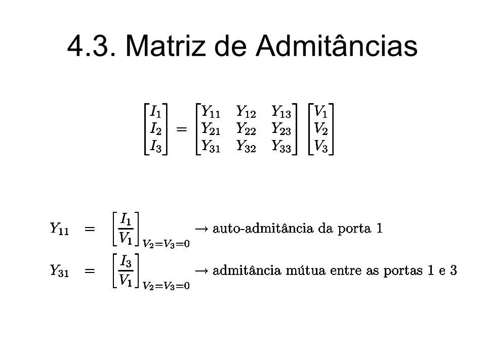 4.3. Matriz de Admitâncias
