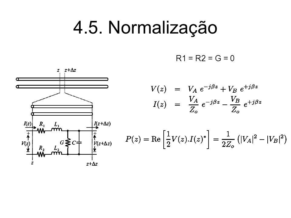 4.5. Normalização R1 = R2 = G = 0