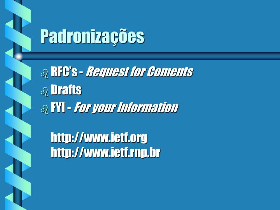 Padronizações RFC's - Request for Coments Drafts
