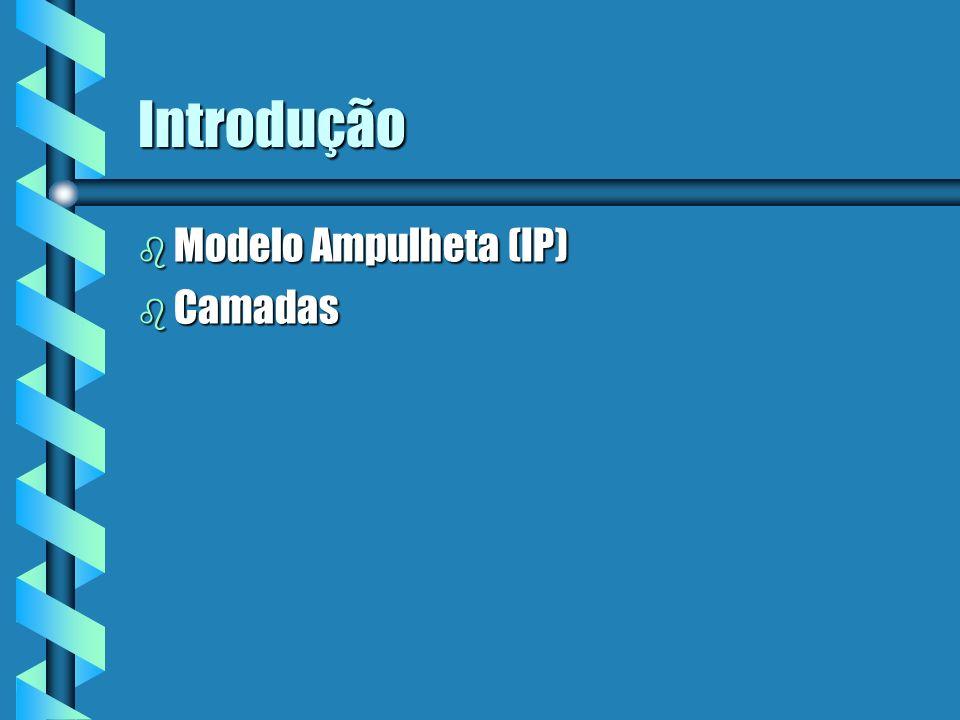 Introdução Modelo Ampulheta (IP) Camadas