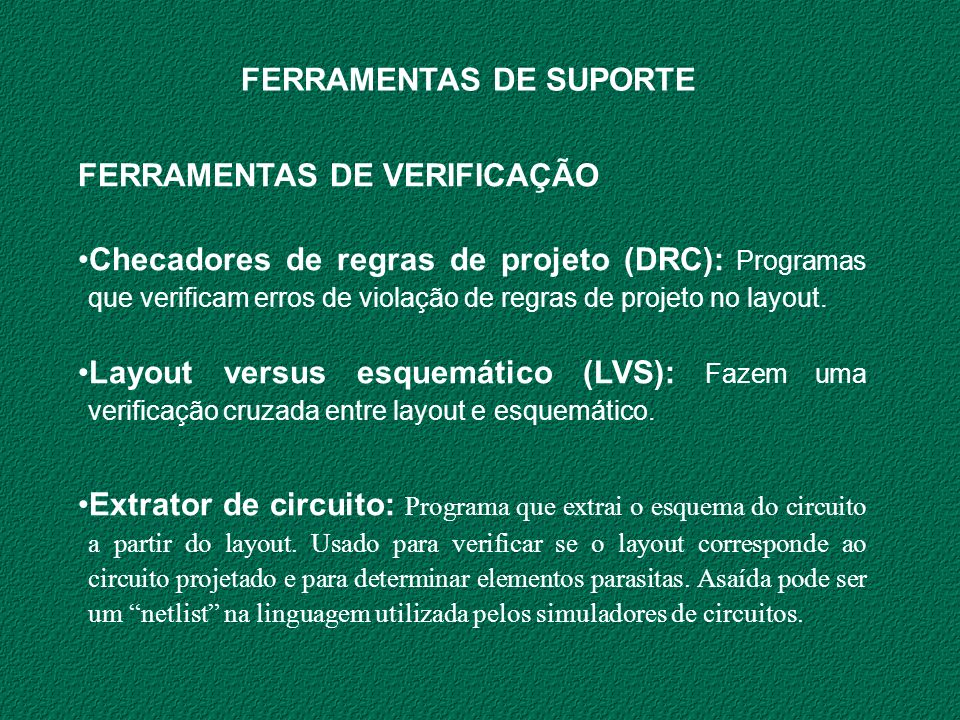 FERRAMENTAS DE SUPORTE